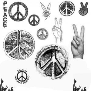 070908peace 300x300 Кисть для фотошопа   Мирные хиппи
