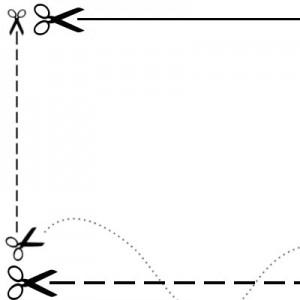 140508knis 300x300 Кисти для фотошопа   Ножницы и линия разреза