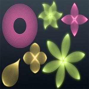 200608line 300x300 Кисть для фотошопа   Линейные узоры в виде цветов