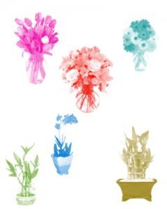 Flower.in .vase  240x300 Кисть для фотошопа   Цветы в вазах