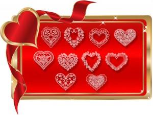 Flower hearts 300x225 Кисть для фотошопа   Цветочные сердца