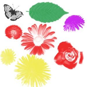 Flowers.colorr 300x300 Кисть для фотошопа   Цветник