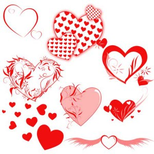 Heartsbrushes 300x300 Кисть для фотошопа   Валентинки