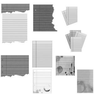 Luminicity notepaper 300x300 Кисть для фотошопа   Почтовая бумага