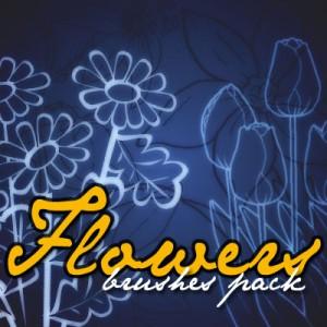 Night fl 300x300 Кисть для фотошопа   Ночной цветок