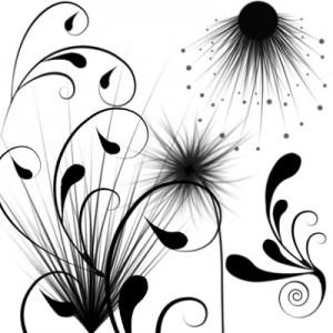Pushistie flower 300x300 Кисть для фотошопа   Пушистые цветочки.