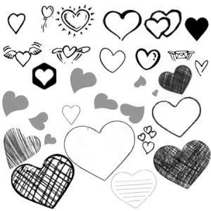 Serdechki.ch 300x300 Кисть для фотошопа   Hearts