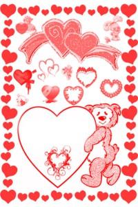 Valentine day 200x300 Кисть для фотошопа   На день Святого Валентина.