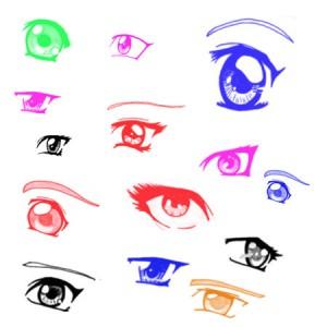 Eyes 300x300 Кисть для фотошопа   Глаза (Anime)