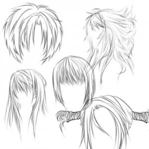 Hairr 300x300 Кисть для фотошопа   Прически в стиле Аниме