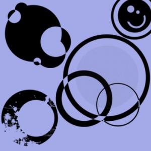 250608cicle 300x300 Кисть для фотошопа   Круги и сферы