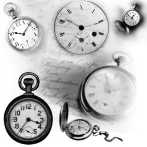 260308time 300x300 Кисть для фотошопа   Часы, старые, на цепочке
