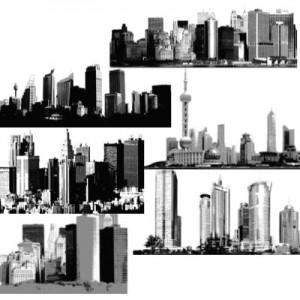 300508skiline 300x300 Кисть для фотошопа   Города, небоскребы