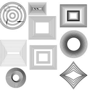 Euripide 300x300 Кисть для фотошопа   Круги и квадраты 3D