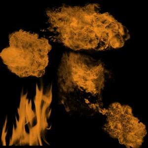 Flames1 300x300 Кисть для фотошопа – Воздушные огненные взрывы