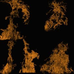 Flames4 300x300 Кисть для фотошопа – Рябристое высокое пламя