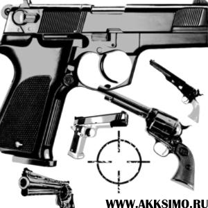 Guns4 Кисть для фотошопа   Оружие (Пистолеты)