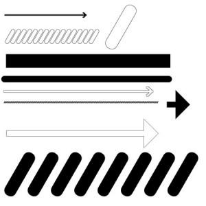 Linear 300x300 Кисть для фотошопа   Векторные стрелки, линии и строка прогресса