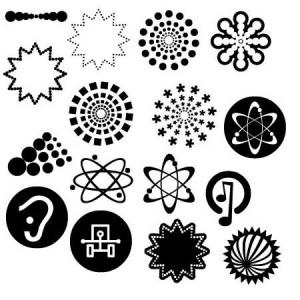 Mix 300x300 Кисть для фотошопа   Векторные символы атом