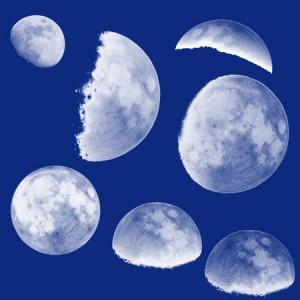 Moon brushes 300x300 Кисть для фотошопа   Луна с разных ракурсов