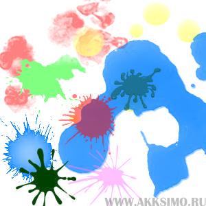 Multi kraska Кисть для фотошоп   Мультяшная краска