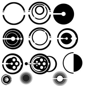 PAULW   Abstract Circles 300x300 Кисть для фотошопа   Абстрактные круги