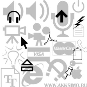 Pcicons Кисть для фотошопа   Значки,иконки:кино,звук