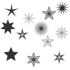 Serenityone stars 300x300 Кисть для фотошопа   Звезды разных типов геометрии
