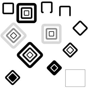 Squares 300x300 Кисть для фотошопа   Векторные округлые квадраты