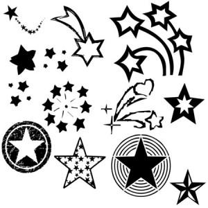 Star1 300x300 Кисть для фотошопа   Звезды разных геометрических видов