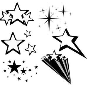 Stars1 300x300 Кисть для фотошопа   Звездное оформление