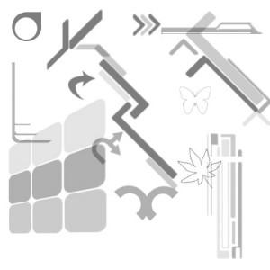 VPDesign 300x300 Кисть для фотошопа   Ассорти, векторные линии, панели
