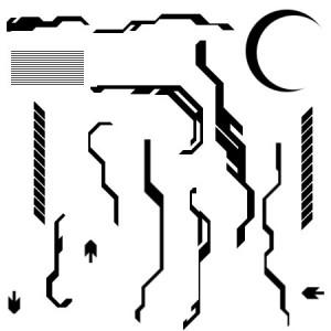 VPDesigns Tech Brush set 300x300 Кисть для фотошопа   Линии техно электроника