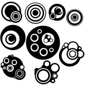 Vector Circles 300x300 Кисть для фотошопа   Векторные круги