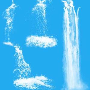 Waterfalls2 300x300 Кисть для фотошопа   Высокие водопады по камням
