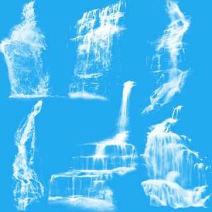 Waterfalls5 300x300 Кисть для фотошопа   Высокие смазанные водопады