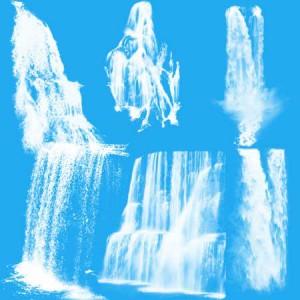 Waterfalls6 300x300 Кисть для фотошопа   Высокие обрывистые водопады