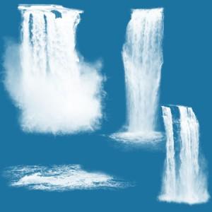 Waterfalls7 300x300 Кисть для фотошопа   Высокие обрывистые водопады с водяным облаком