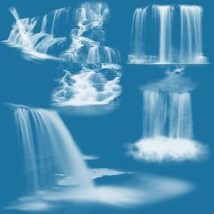 Waterfalls8 300x300 Кисть для фотошопа   Водопады с поверхностью воды