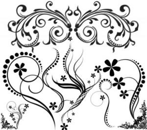 brushes2299 300x266 Кисть для фотошопа – Набор с декоративным орнаментом