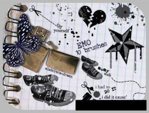 brushes2425 300x228 Кисть для фотошопа   Эмо и кеды