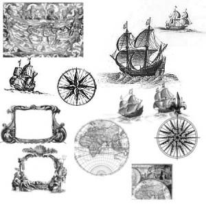 brushes3048 300x300 Кисть для фотошопа   Древняя морская карта