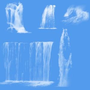 brushes3322 300x300 Кисть для фотошопа   Высокие и широкие водопады