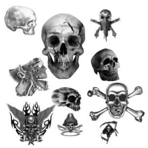 brushes3364 300x300 Кисть для фотошопа   Пиратские черепа