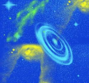 brushes3771 300x278 Кисть для фотошопа   Звездное небо, Вселенная и галактики
