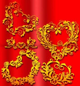 brushes3970 279x300 Кисть для фотошопа – Орнаменты в виде сердец.