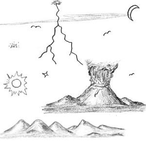 brushes5208 300x300 Кисть для фотошопа   Природные рисунки, вулкан