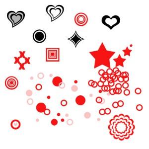 brushes5238 300x300 Кисть для фотошопа   Векторные сердечки и звёздочки