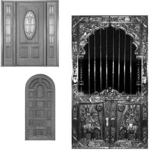 brushes5294 300x300 Кисть для фотошопа   Деревянные двери