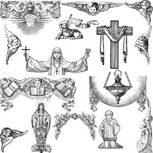 brushes5428 300x300 Кистья для фотошопа   Религии Христианства, убранство